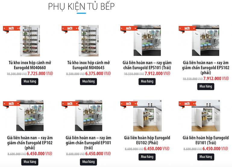 Các sản phẩm được khách hàng ưa chuộng nhất tại iKitchen