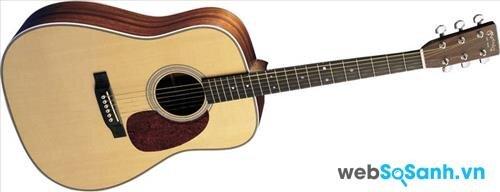 Một chiếc đàn guitar acoustic khá phù hợp với người mới