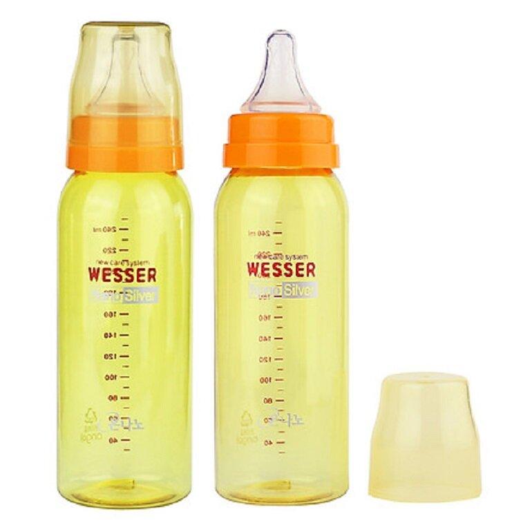 bình sữa Wesser Nano Silver 250ml có tác dụng chống rò rỉ sữa ra ngoài