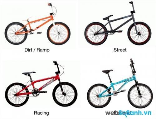 Với mỗi mục đích đi xe đạp, bạn nên chọn những loại xe BMX khác nhau