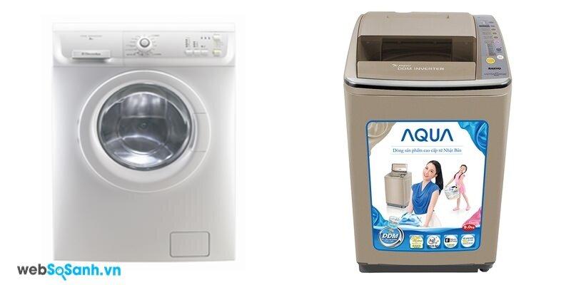 Electrolux EWF8556 và Sanyo ASW-DQ900HT (nguồn: internet)