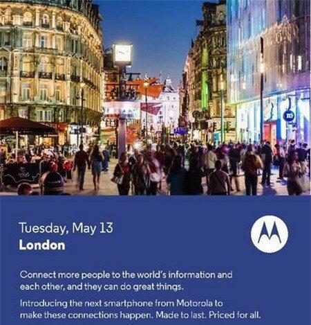 Thư mời sự kiện đặc biệt sắp diễn ra của Motorola