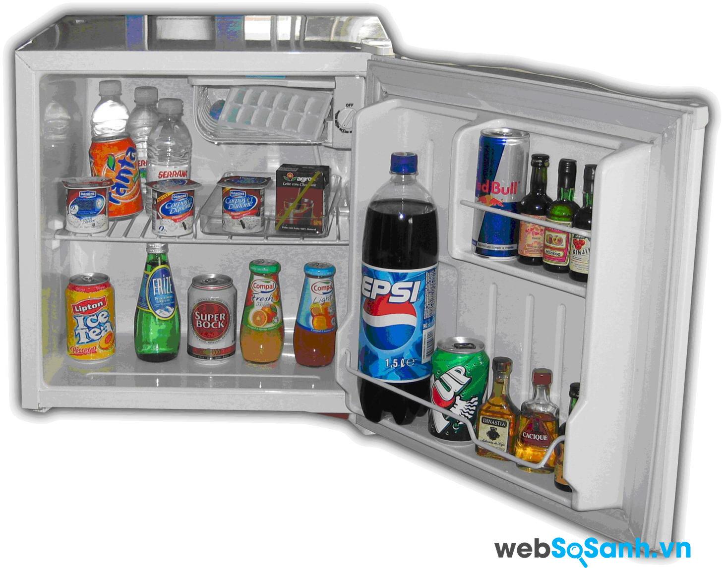 Nếu bạn ở một mình thì loại tủ lạnh Mini khá phù hợp