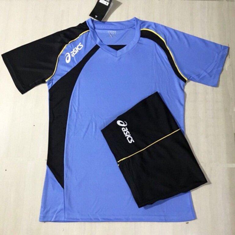 Quần áo bóng chuyền nam Asics màu xanh ngọc