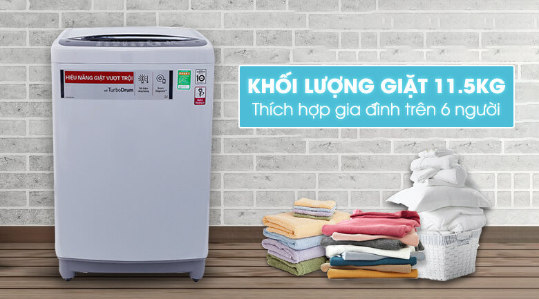 Máy giặt cửa trên inverter LG t2351vsam