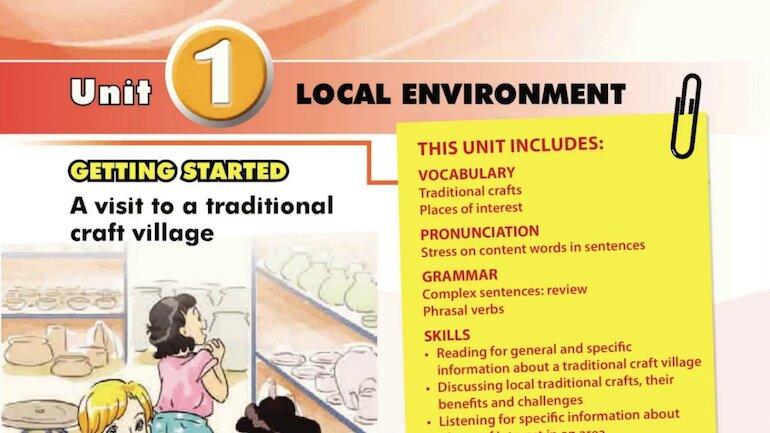 Sách giáo khoa tiếng anh lớp 9 có nội dung ngữ pháp chắc chắn