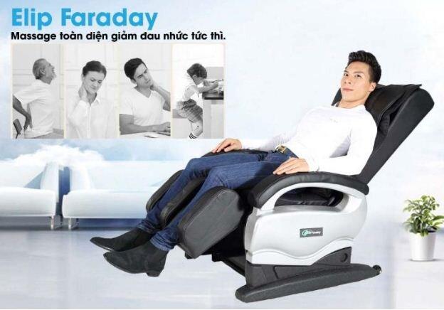 Ghế massage Elip Faraday - Giá giảm 29% GIÁ CHỈ CÒN 9.900.000 vnđ