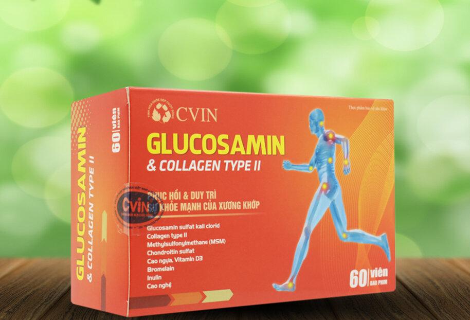 Thực phẩm chức năng CVIN Glucosamine - Collagen Type II