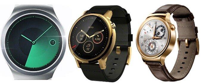 Samsung Gear S2 vs Moto 360 (2015) vs Huawei Watch: specs comparison