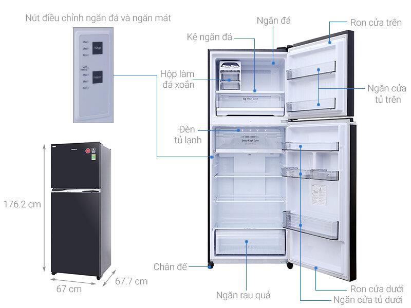 Tủ lạnh Panasonic inverter với thiết kế rất tiện lợi