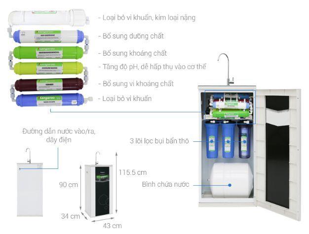 Máy lọc nước RO Kangaroo VTU KG109A 9 lõi - Giá rẻ nhất: 3.990.000 vnđ