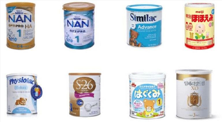 các loại sữa