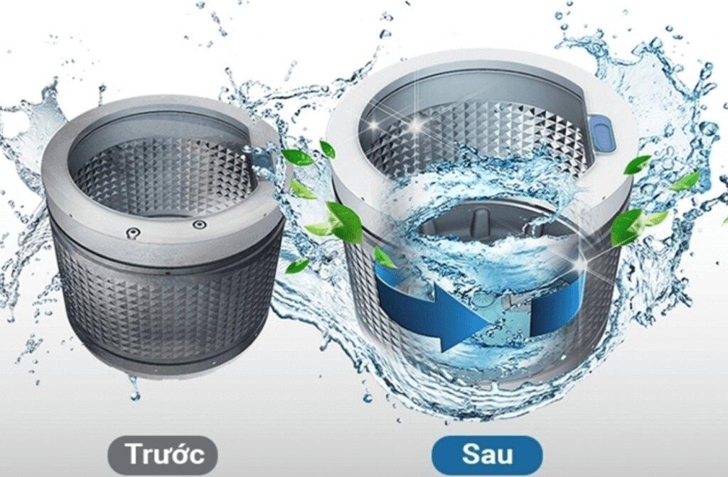 Vệ sinh máy giặt bằng chế độ tự vệ sinh tích hợp trên máy