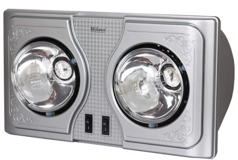 Đèn sưởi phòng tắm Hans 2 bóng H2B