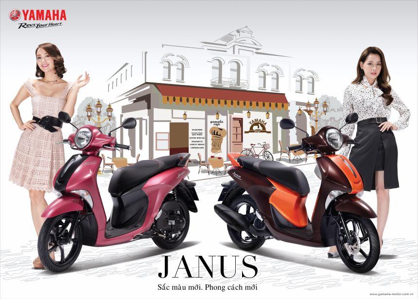 Yamaha Janus tôn lên vẻ đẹp phái nữ