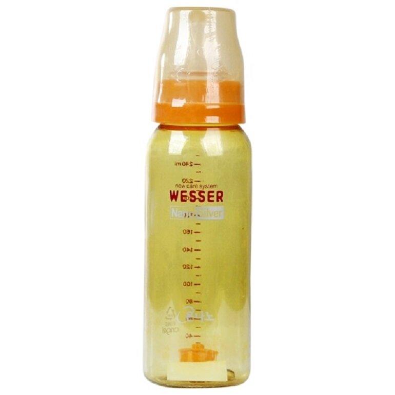 Bình sữa Wesser Nano Silver 250ml có xuất xứ từ Hàn Quốc