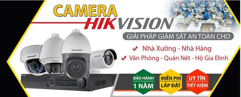 Camera HIKVISION giải pháp giám sát an toàn cho nhà xưởng, nhà hàng..