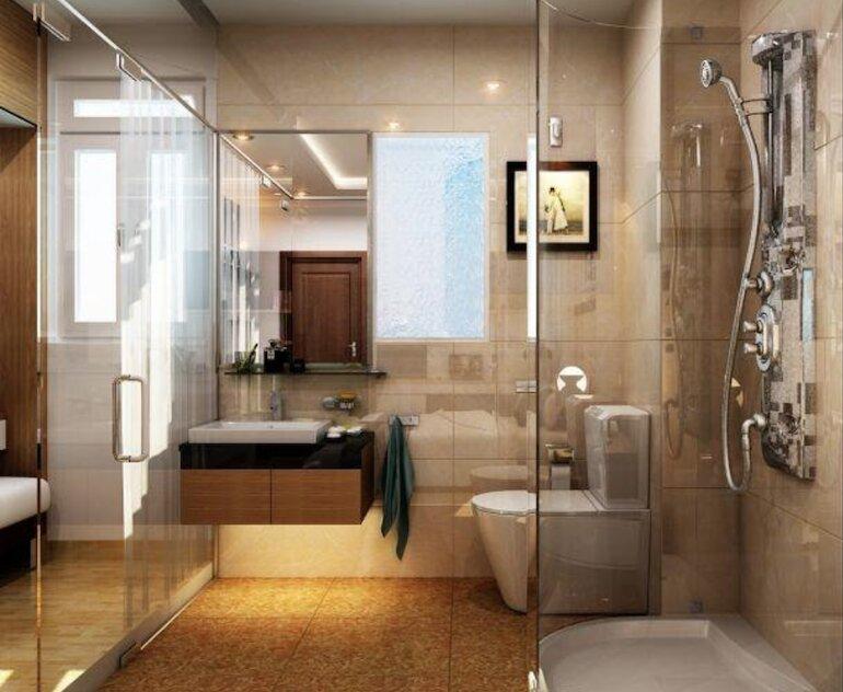 Nội thất phòng tắm cao cấp bố trí như thế nào?