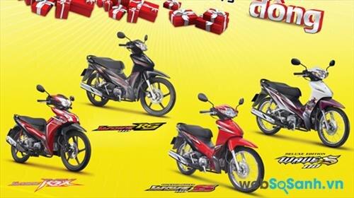 Mua xe máy Honda được tặng quà tới 1 triệu đồng