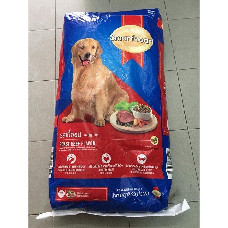 Thức ăn cho chó bao 20kg SmartHeart