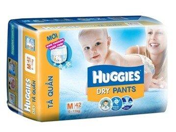 Tã quần Huggies size M42 miếng (trẻ từ 6 - 11 kg)