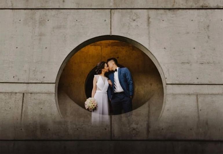 tạo hiệu ứng huyền ảo cho ảnh cưới mà không cần photoshop