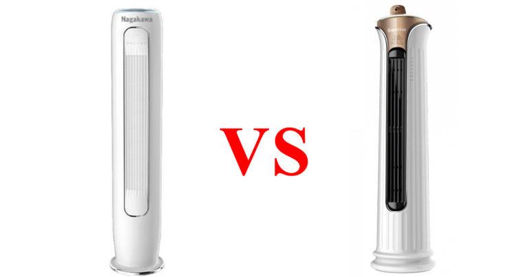 So sánh điều hòa tủ tròn Erito ETI-FS30HS1 với Nagakawa NIP-A30DC - điều hòa tủ đứng nào đáng chọn lựa hơn ?