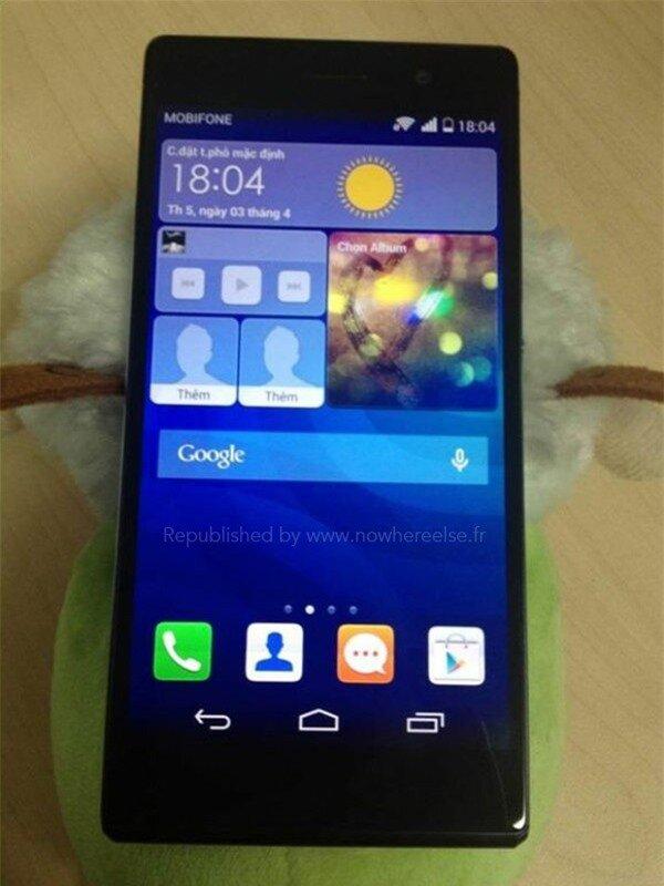 Ảnh và thông số đầy đủ của Huawei Ascend P7