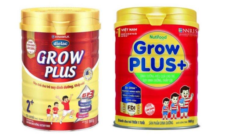 sữa Grow Plus của Nutifood và Vinamilk