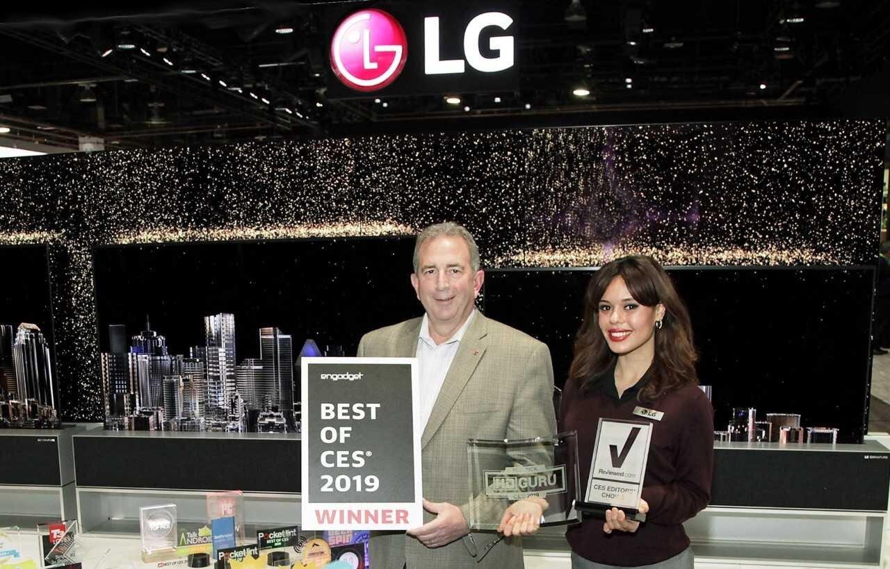 LG nhận được Giải thưởng công nghệ tiên tiến Innovation Awards CES 2019 tại Las Vegas cho dòng sản phẩm chăm sóc quần áo bằng hơi nước