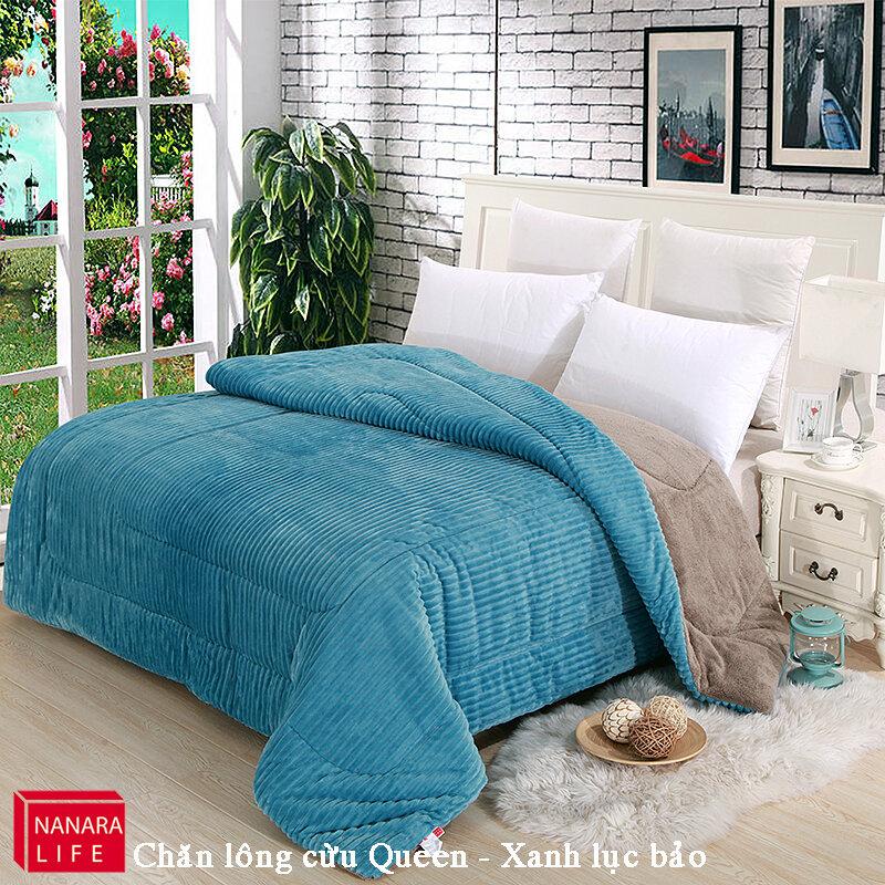 Chăn lông cừu hiệu Nanara sang trọng phong cách cho phòng ngủ