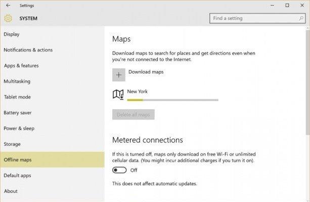 offline maps downloading