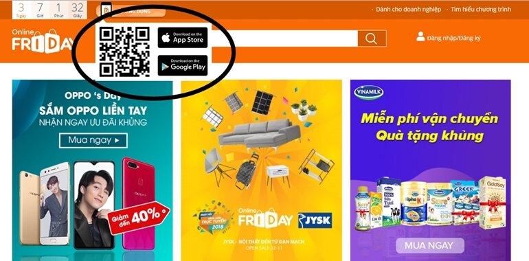 hướng dẫn tải app online friday cho android ios