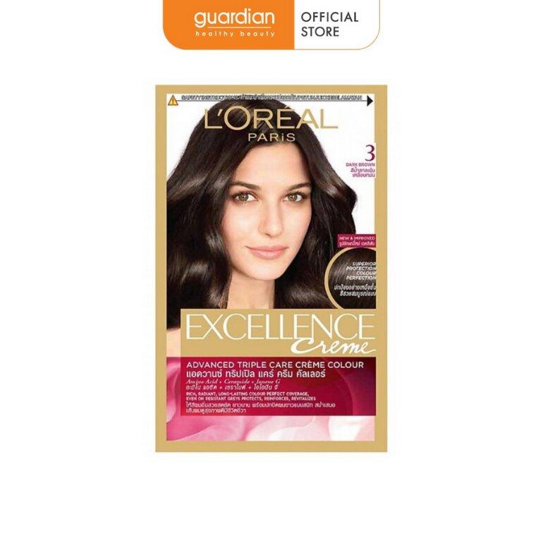 Thuốc nhuộm tóc đen Loreal Paris Excellence Crème