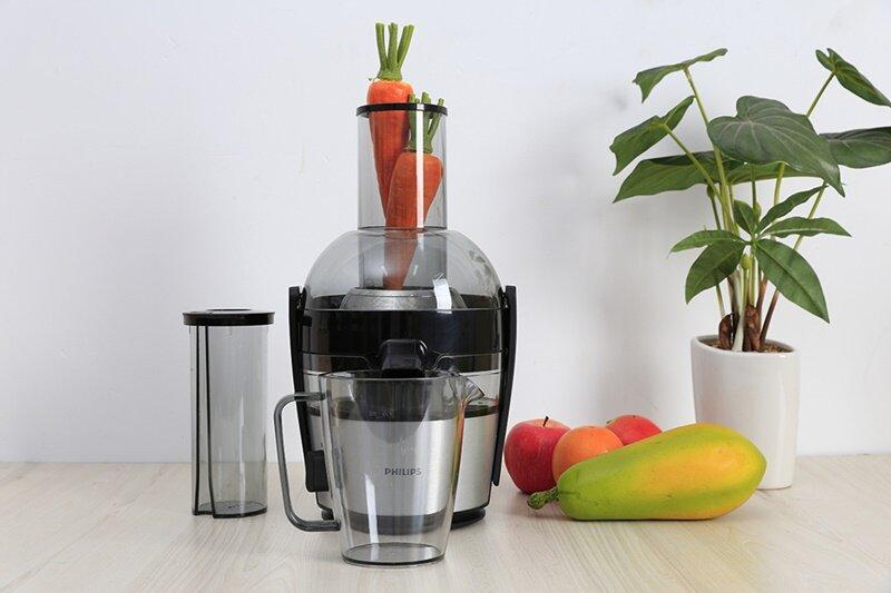 Máy ép trái cây Philips HR1855 được tích hợp công nghệ làm sạch Quickclean