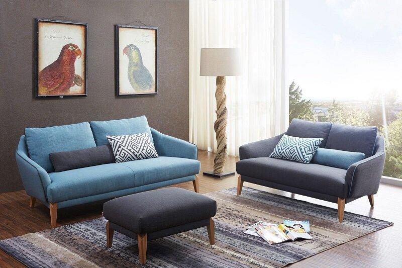 Nệm gấp ghế Sofa Vạn Thành gam màu nhã nhặn làm sáng không gian phòng khách nhà bạn