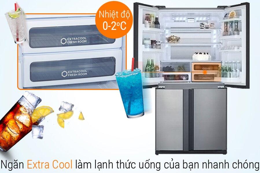 Giá thành hợp lý cho chiếc tủ lạnh đến từ thương hiệu Sharp nổi tiếng