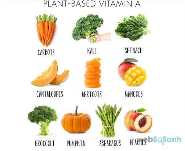 Nhóm thực phẩm giàu vitamin A cho bé