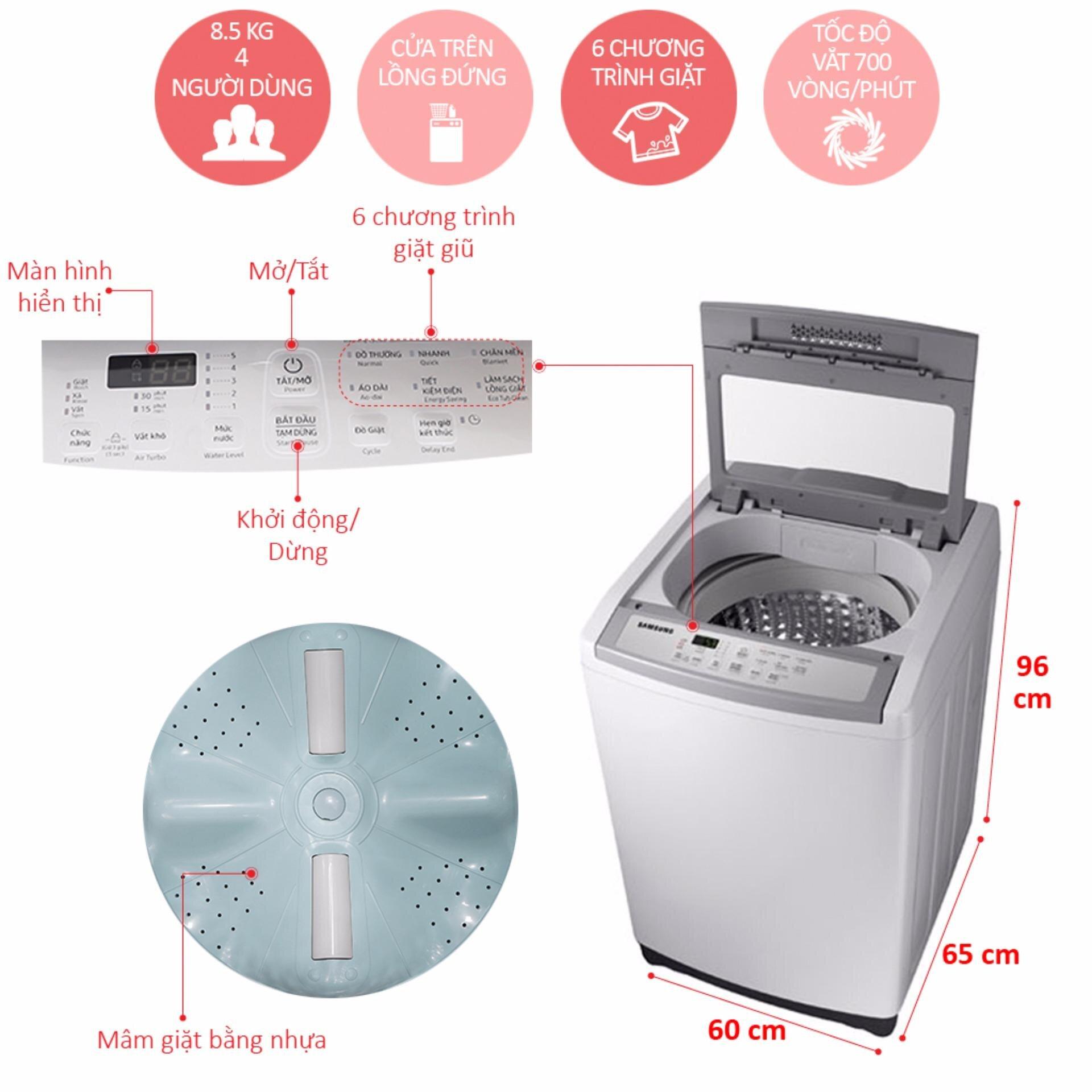 Máy giặt cửa trên Samsung 8.5kg (WA85M5120SG)