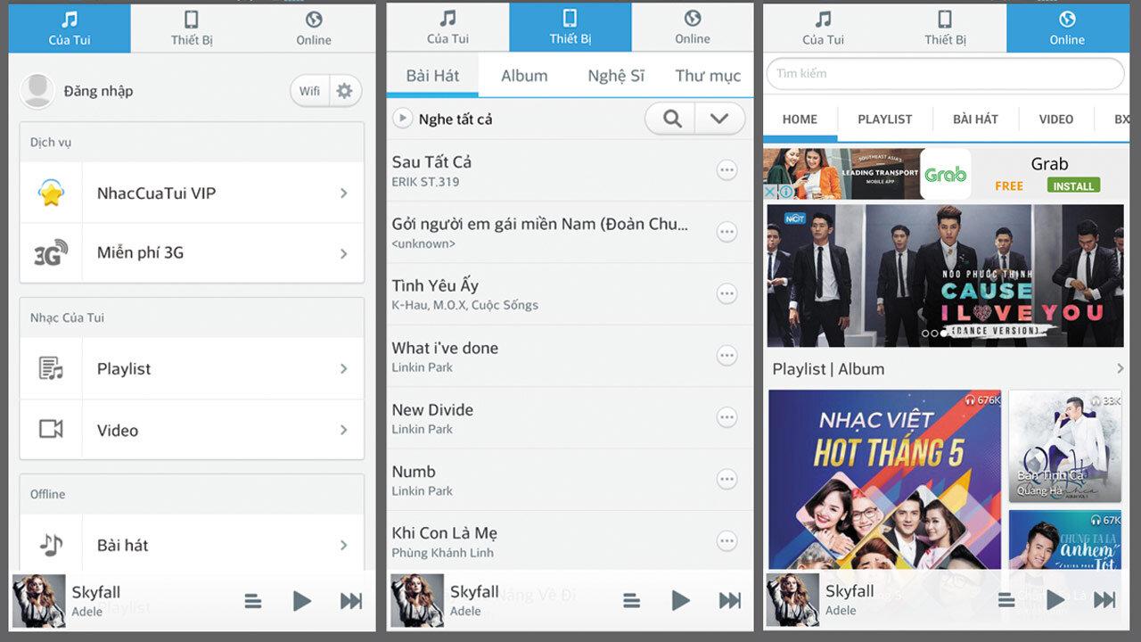 App nhaccuatui hỗ trợ tải nhạc trên iPhone