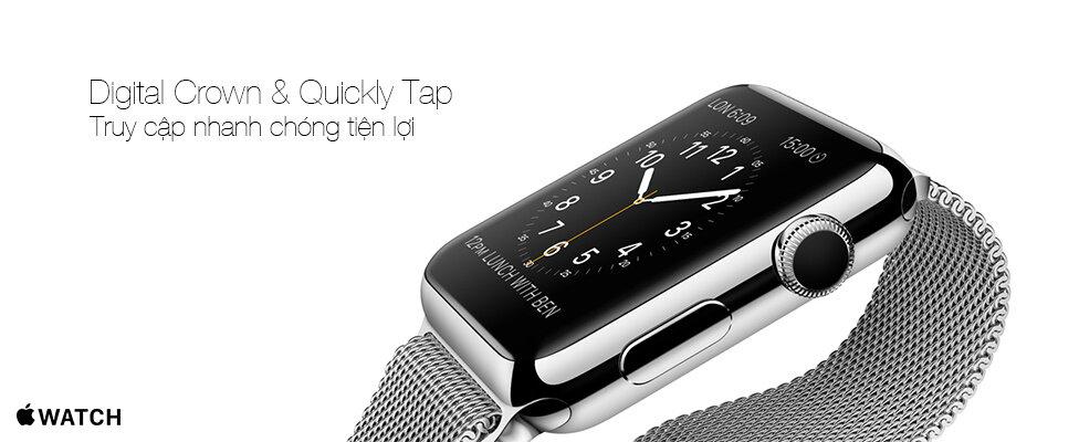Đồng hồ thông minh Apple Watch digital crown