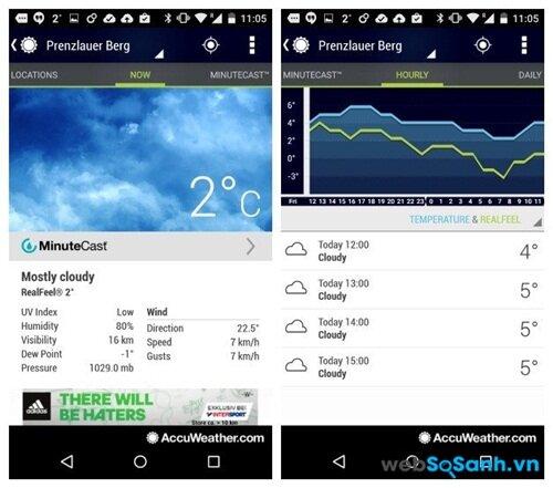 Nếu bạn chưa bao giờ ngừng nghĩ về thời tiết thì ứng dụng Accuweather sẽ cung cấp đầy đủ thông tin cho bạn