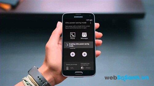 TÍnh năng siêu tiết kiệm pin trên điện thoại Samsung Galaxy S5