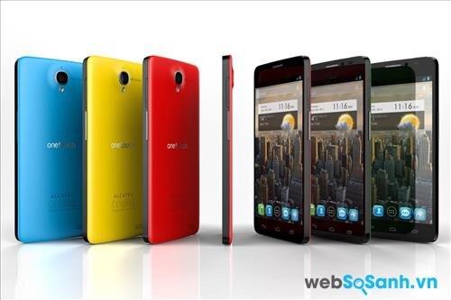 Điện thoại Alcatel Onetouch Idol 2 có thiết kế trẻ trung