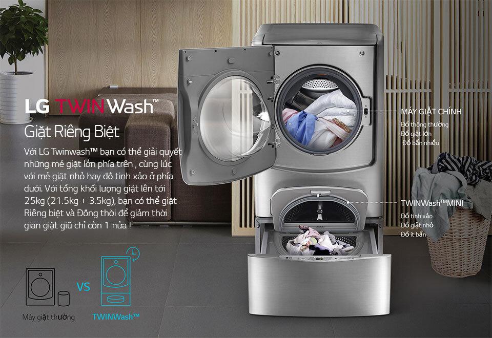 Công nghệ giặt thông minh của máy giặt LG