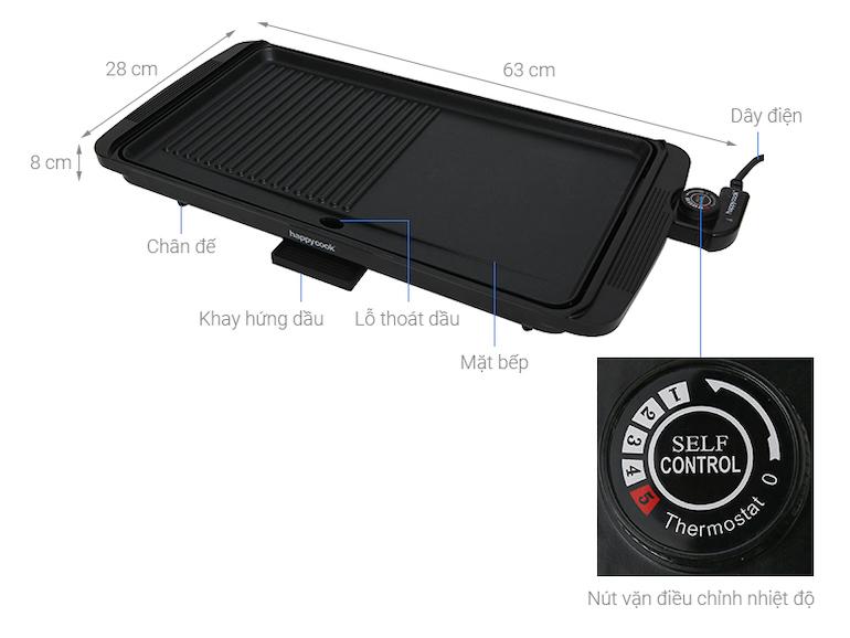 Bếp nướng điện Happycook HGR 4610 2000 W