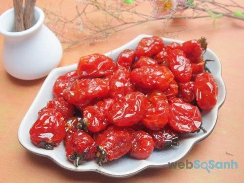 Cách làm mứt Cà chua bi đơn giản không dùng nước vôi trong
