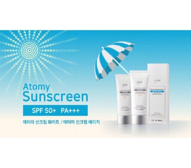 Kem chống nắng Atomy SunScreen dùng có tốt không?