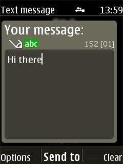 Khu vực nhắn tin trên Nokia 515
