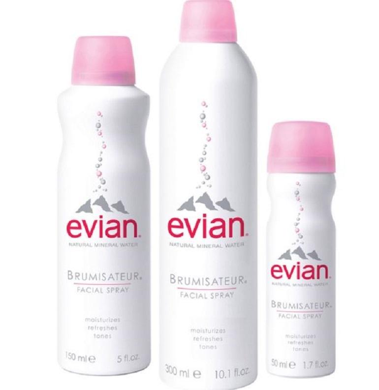Xịt khoáng Evian Natural Mineral Water